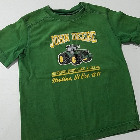 John Deere Green Tractor 3T boys short sleeve